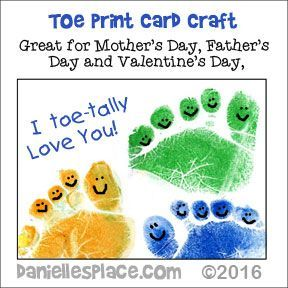 Toe-tally Awesome Valentine's Day Crafts for Kids - If you use this craft and publish it online, please link back to Danielle's Place and give Danielle's Place credit.