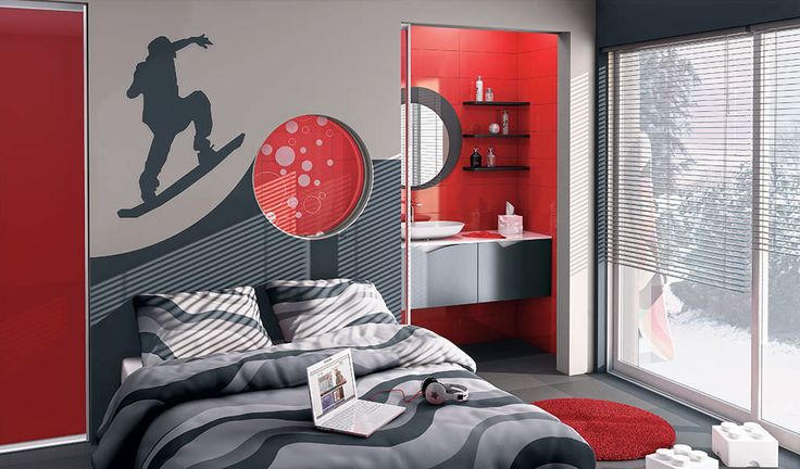 Chambre adolescent d co chambre pinterest for Chambre adolescent