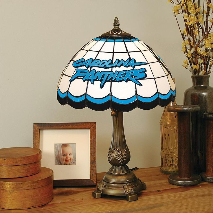 Football Fan Shop Charlotte Panthers Tiffany Style Table Lamp