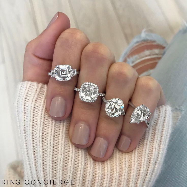 Asscher Engagement Rings Pinterest