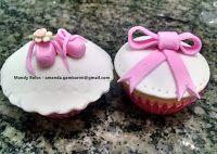 Bolos decorados da Mandy: Cupcakes e Pirulitos decorados no tema Balé (balle...