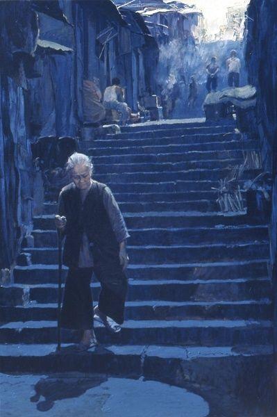 Wai Ming Paintings | WAI MING - The Blue Evening | Art