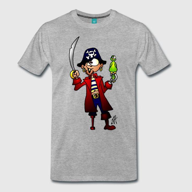 PIrate T-shirt.  #pirate #Tshirt #Spreadshirt #Cardvibes #Tekenaartje #SOLD