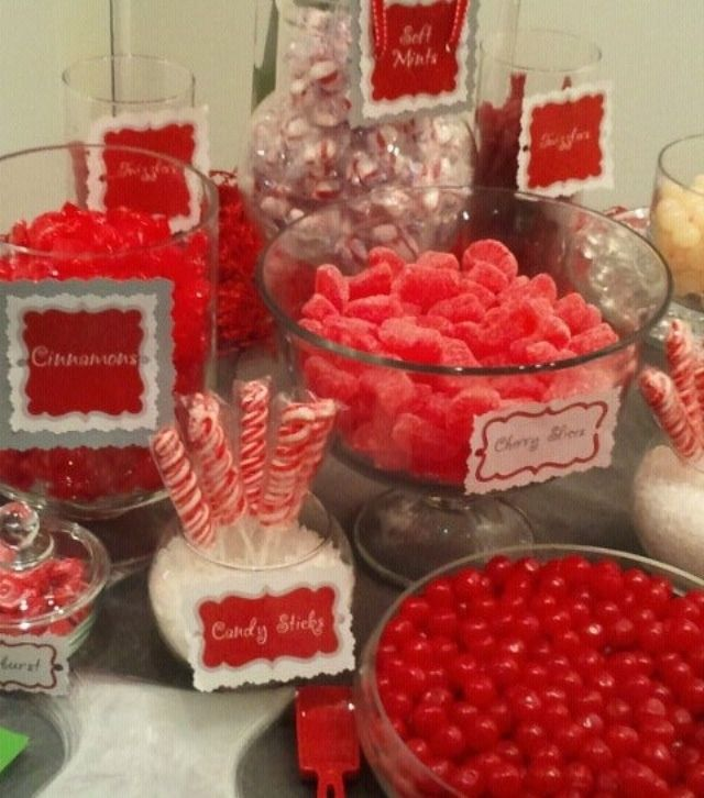 Red Candy Buffet | Time for the Holidays