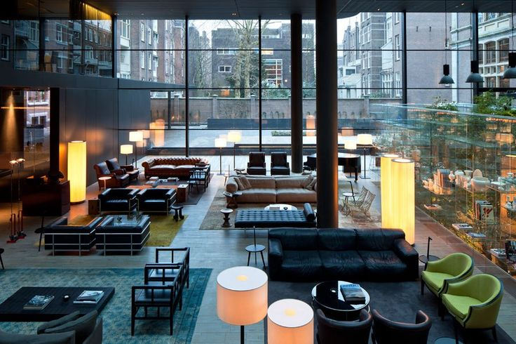 The Conservatorium Hotel Lobby, Amsterdam Luxury Boutique Hotels : Architectural Digest