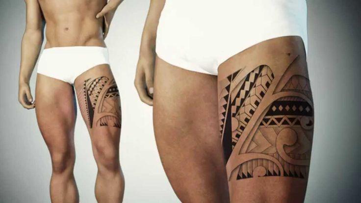 Maori inspired tattoo design for leg