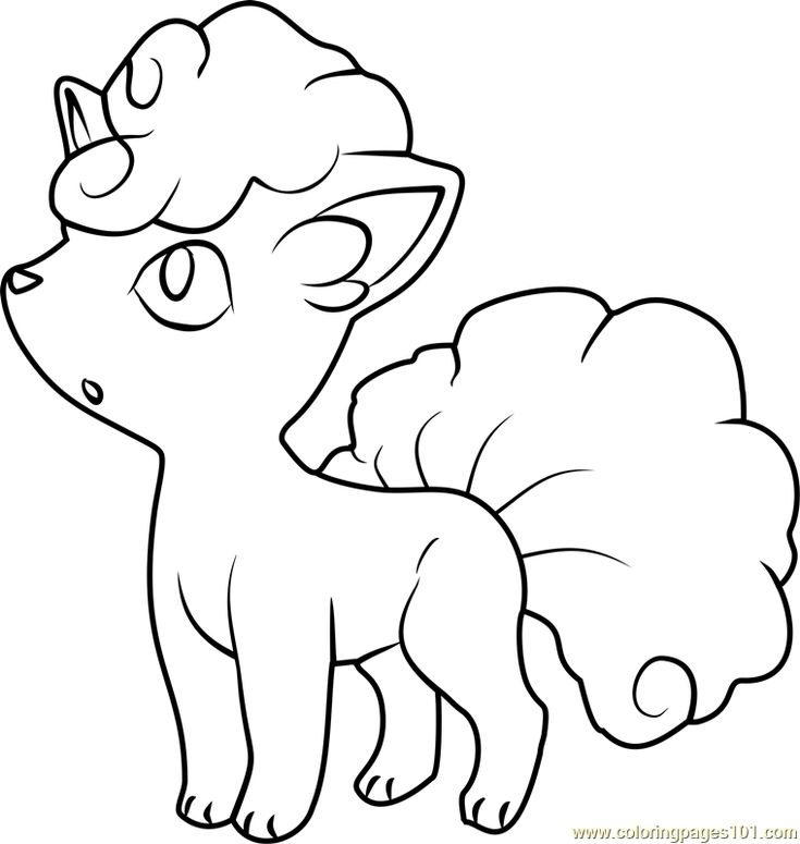 Alola Vulpix Pokemon Sun And Moon Coloring Page Pokemon Coloring