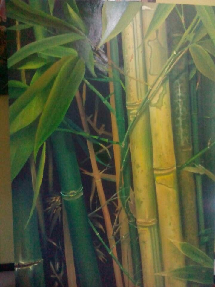 My bamboo, oil on canvas 125 x 195 cm.