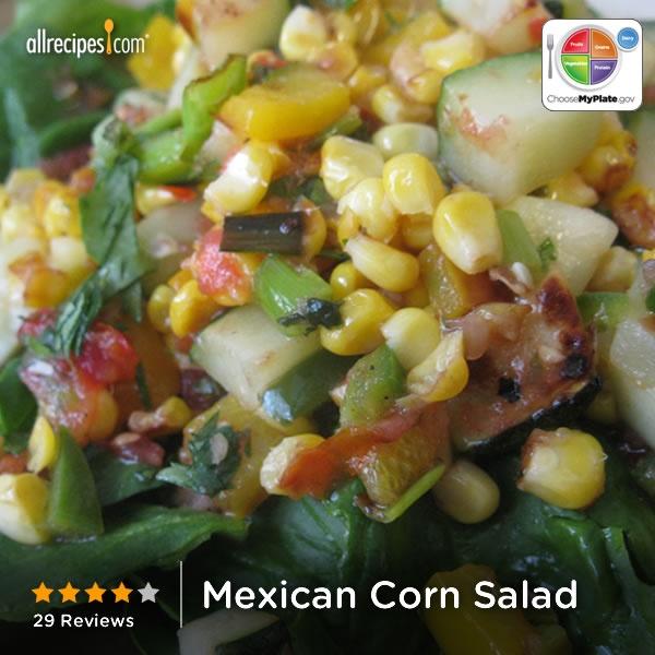 Mexican Corn Salad from Allrecipes.com #myplate #veggies