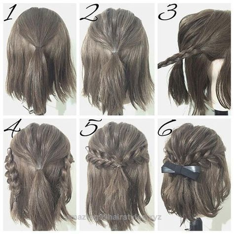 Neat easy prom hairstyle tutorials for girls with short hair The post easy prom hairstyle tutorials for girls with short hair… appeared first on Amazing Hairstyles . #PromHairstylesShort #shorthairstyleseasy #shorthairstylestutorial