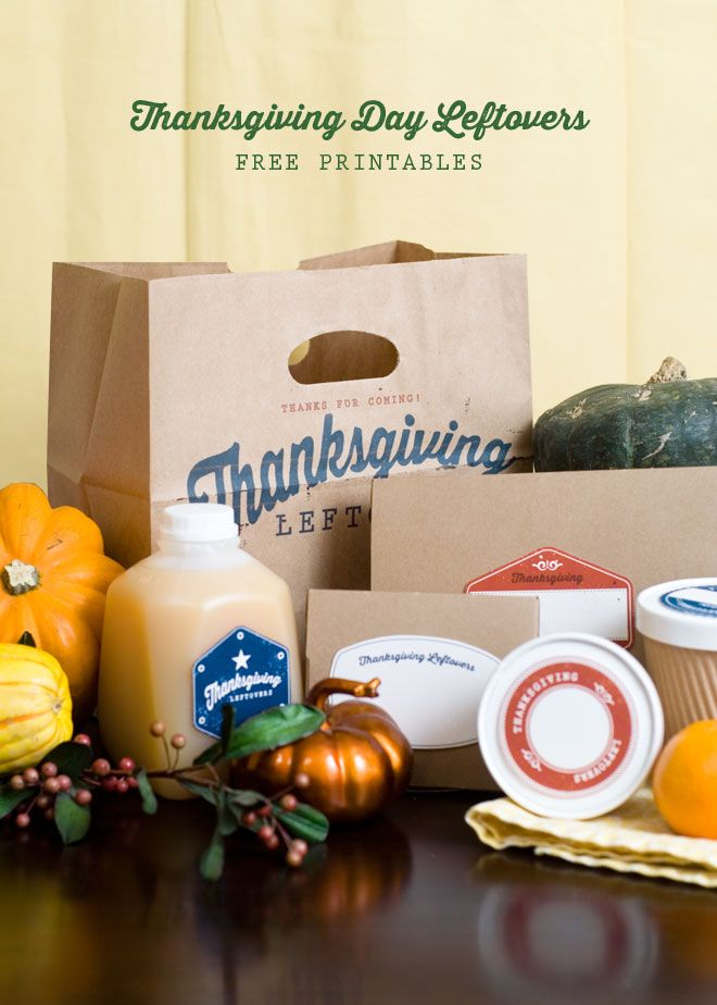 Free Thanksgiving Leftover Printables