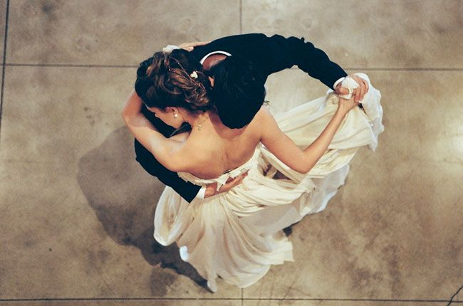 Overhead shot of a first dance