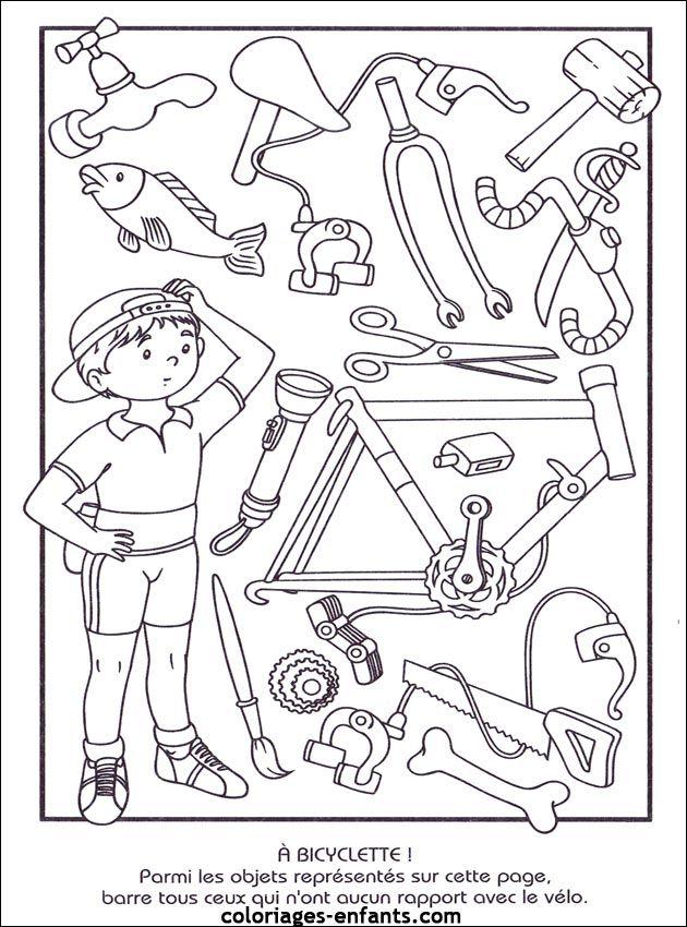 Welke onderdelen horen bij de fiets?