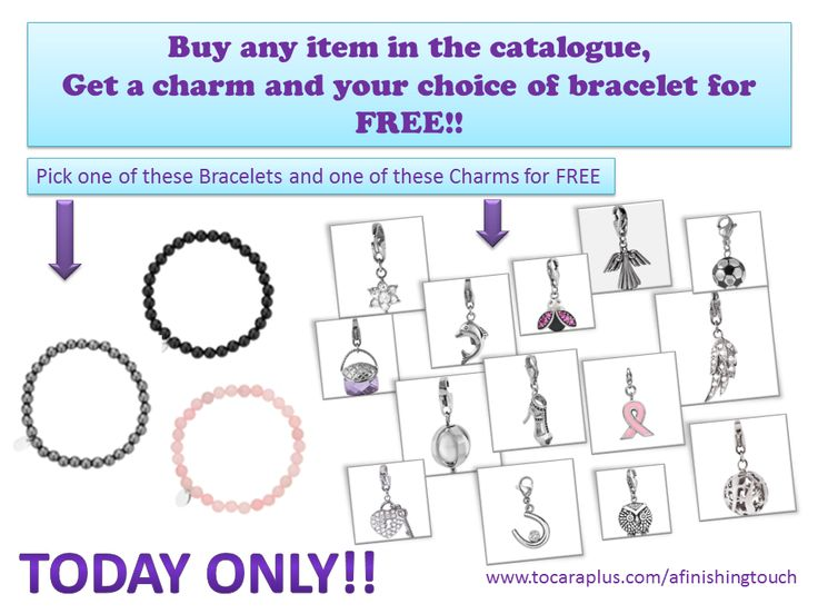 Happening TODAY ONLY, message me at th1714@rogers.com and take advantage of some FREE bling!! www.tocaraplus.com/afinishingtouch