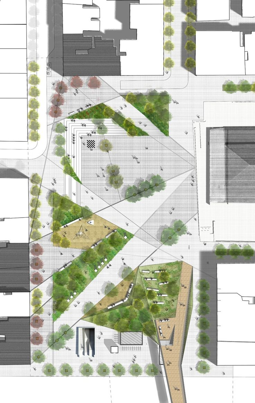 Thessaloniki public square redesign proposal Design: G.Zoupas, A.Avlonitis, P.Krimitsas, R.Haldezou, I.Kontopoulou 2012