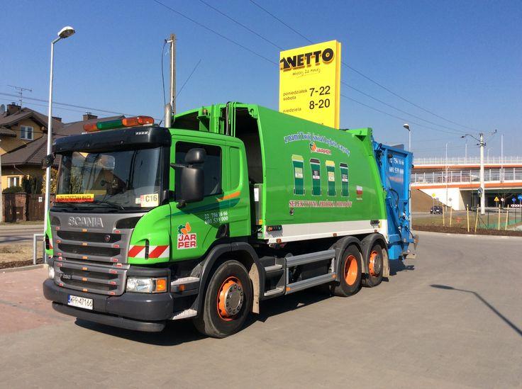 SCANIA z NTM KGHH śmieciarka w firmie JARPER. Refuse truck, rear loader, garbage vehicles, Kommunalfahrzeuge, Benne a ordures, Recolectores, piccoli camion, Carico posteriore