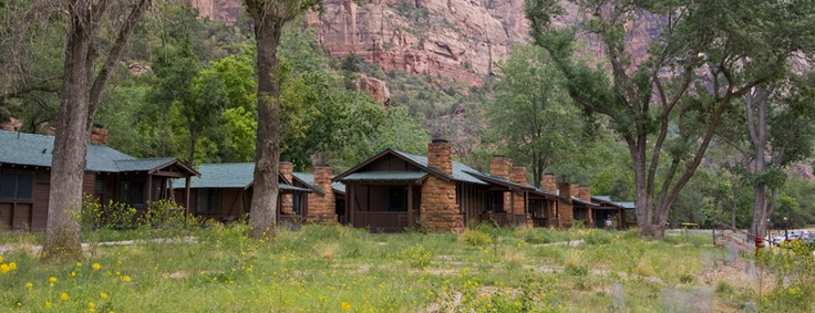 Zion National Park lodging. Zion Lodge, Utah