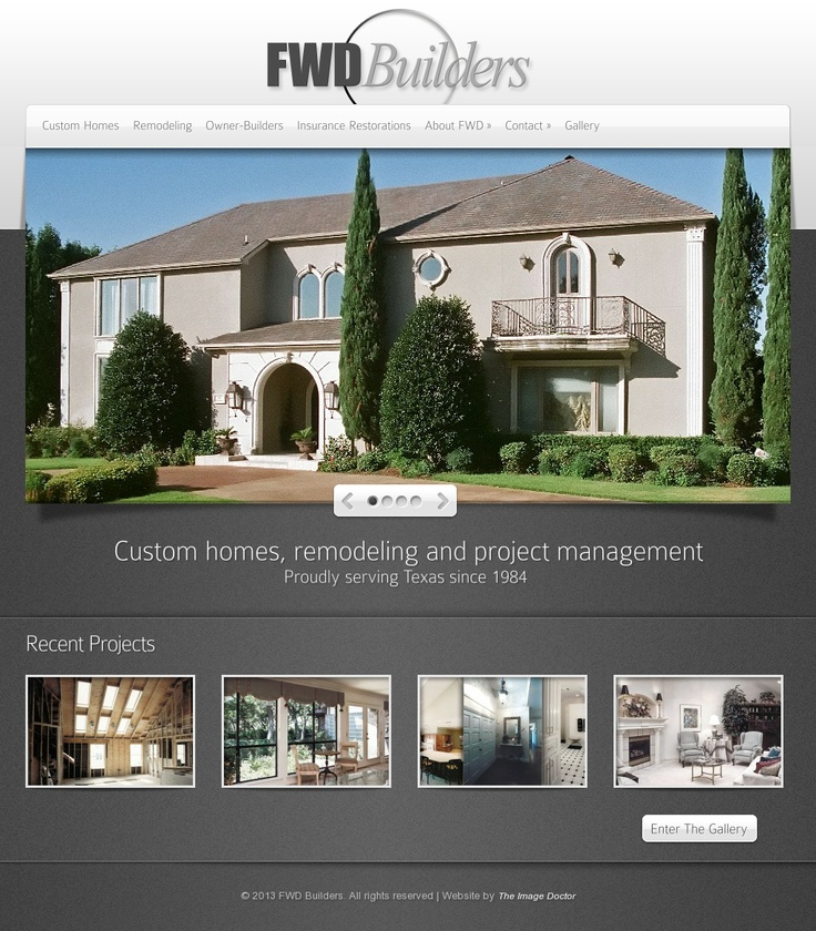 fwd builders website design