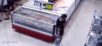 Fish Jumps Right Into Man s Grocery Basket