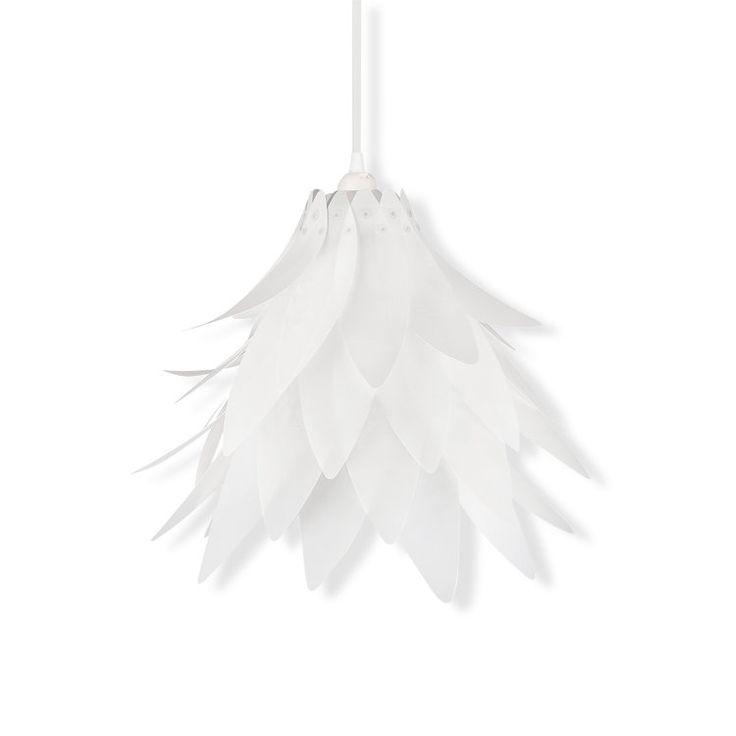 Dekorative Pendelleuchte In Ausgefallenem Blumen Design Material Kunststoff Weiss Blume Fassung Maximal 60 Watt Preis Ohne Leuchtmittel