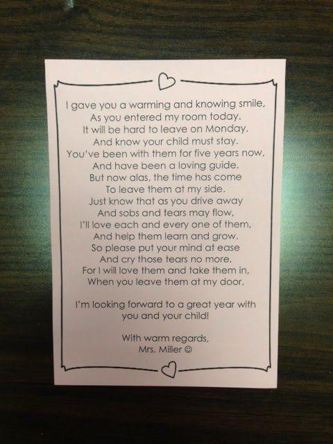 Meet The Teacher Night Kindergarten Boy Pinterest