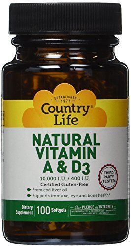 """Country Life Vitamin A and D3 is a dietary supplement made from cod liver oil.       Famous Words of Inspiration...""""What seem our worst prayers may really be, in God's eyes, our best. Those, I mean, which are least supported by devotional feeling. For these may come from a... more details at http://supplements.occupationalhealthandsafetyprofessionals.com/vitamins/vitamin-a/product-review-for-country-life-vitamin-a-and-d3-10000-i-u-400-i-u-100-count/"""
