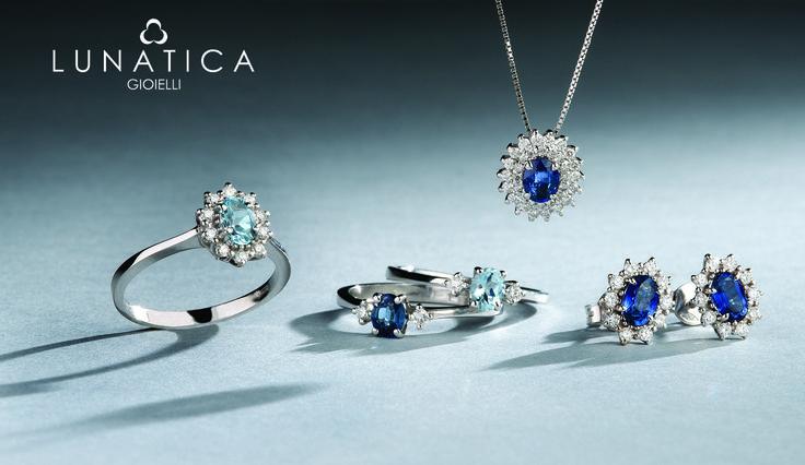 #lunatica #lunaticagioielli #roma #rome #handmade #madeinitaly #sapphires #zaffiri #acquamarine #precious #glam #jewellery #italianjewellery #shadow #blue #lightblue #gemstone #gold #classic