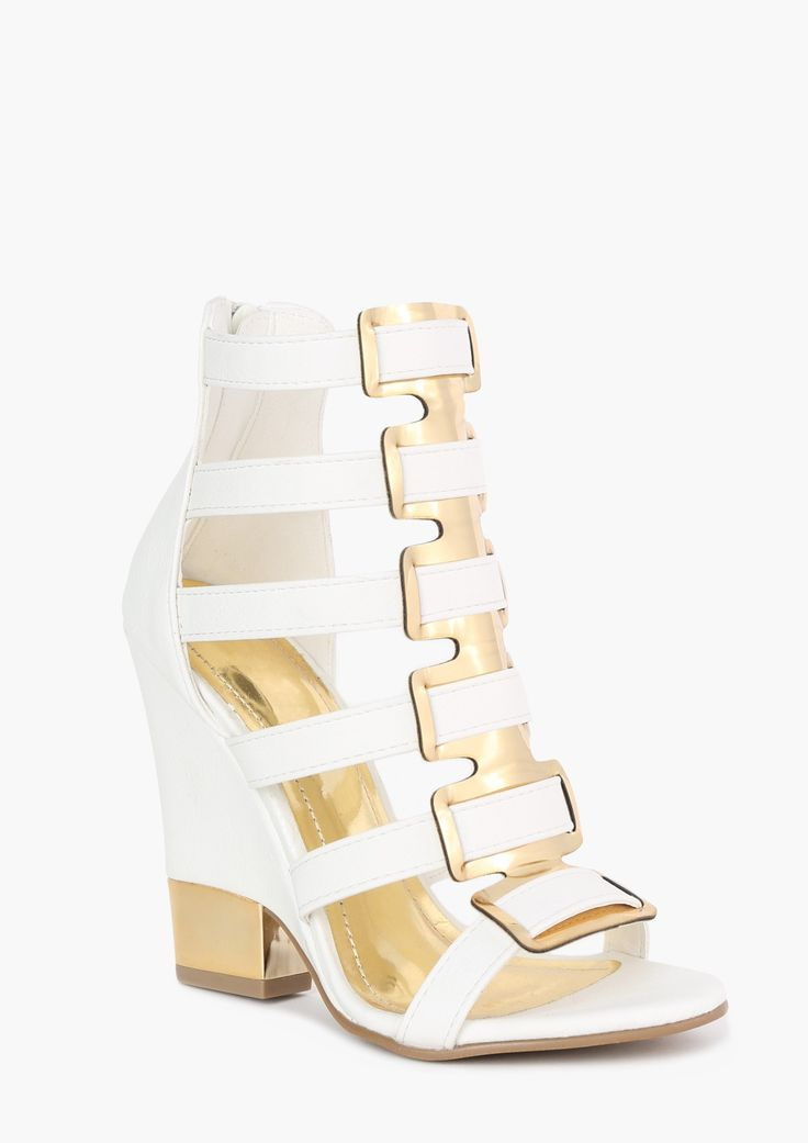 White and Gold Wedge <3 Amazing for summer