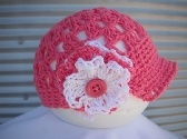 Super cute hat. :-)  Crochet Spring Summer Hat With Peak
