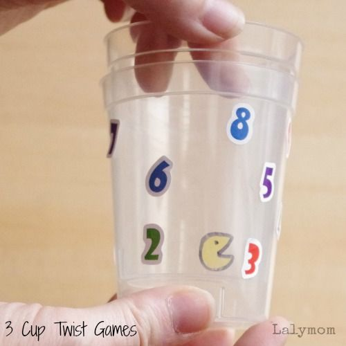 3 Fine Motor Games for Kids Using Plastic Cups on Lalymom.com