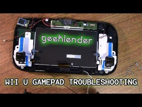 How to repair a cracked screen on the Wii U GamePad | Fix it tutorials - YouTube