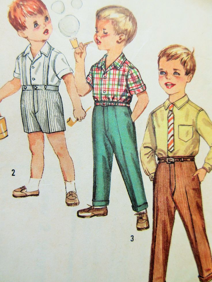 Vintage Simplicity 4533, 1960s Boys' Shirt Pattern, Boys' Pants, Little Boys Toddlers Pattern, Chest 22, 1960s Sewing Pattern Vintage Sewing by sewbettyanddot on Etsy