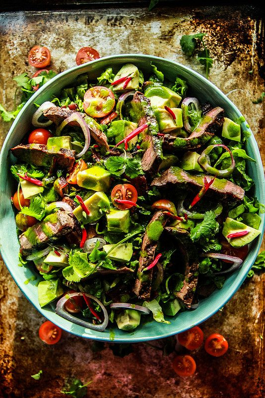 Mexican Steak Cobb Salad with Cilantro Vinaigrette - Food Recipes :)