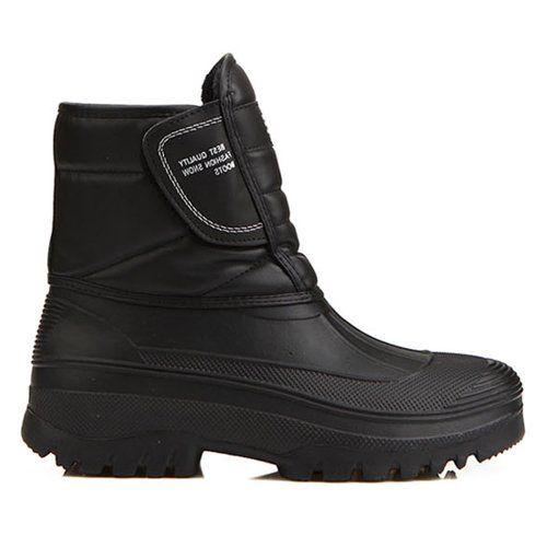 New Mens Black Warm Waterproof Winter Snow Rain Boots (9.5) - http://authenticboots.com/new-mens-black-warm-waterproof-winter-snow-rain-boots-9-5/
