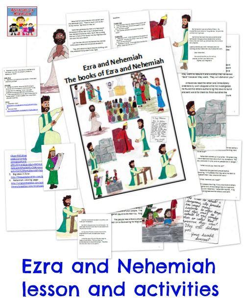 Ezra and Nehemiah Bible lesson | 22 | Preschool bible lessons, Bible