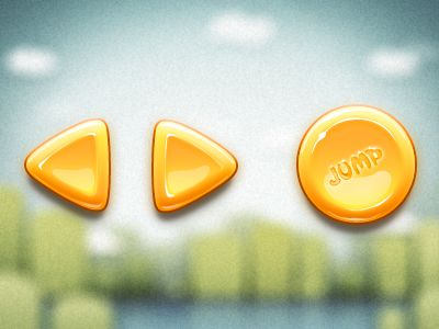 Dribbble - Buttons in Hedgehog Adventure by Caveman