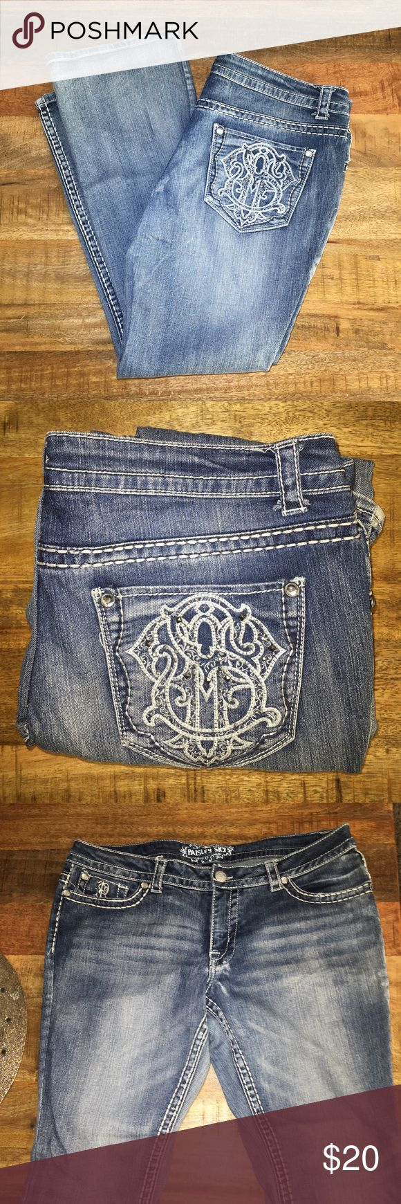 Jeans Very good condition - only worn a few time  99% cotton 1% spandex - Size 14 🗣Willing to consider offers🗣 Feel free to ask any questions! Check out the bundle deal! Paisley Sky Jeans Boot Cut