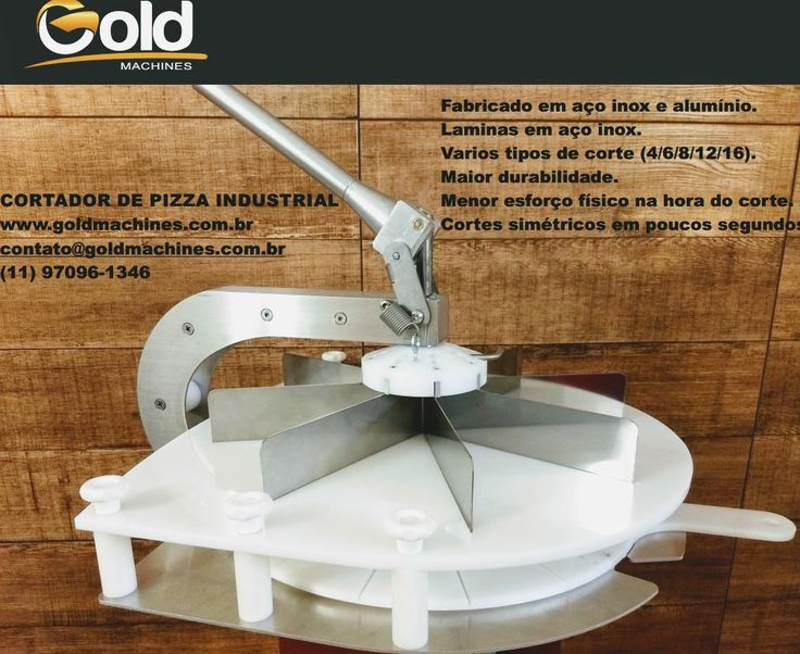 Cortador de pizza industrial GoldMachines. www.goldmachines.com.br