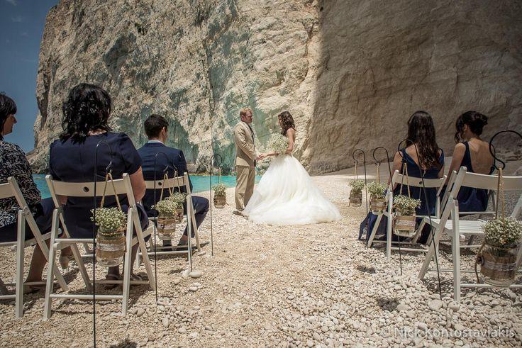 Shipwreck Beach weddings in Zante by The Bridal Consultant