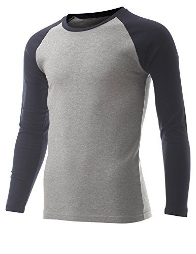 FLATSEVEN Men's Casual Long Sleeve Cotton Crewneck Baseball T Shirt (TR100) Navy and Grey, L FLATSEVEN http://www.amazon.com/dp/B00RGUDEIM/ref=cm_sw_r_pi_dp_lCl1ub0W3JNK1