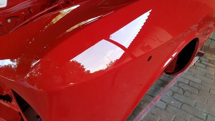 The way a Red Alfa GT Junior should look like, mirror gloss and smooth as glass #galaxycustoms #custompaintjob #restoration #oldcar #kustompaint #alfagtjunior #spraypaint