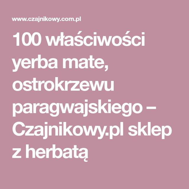 100 właściwości yerba mate, ostrokrzewu paragwajskiego – Czajnikowy.pl sklep z herbatą