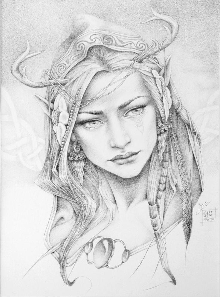 Les 25 meilleures id es de la cat gorie dessin elfe sur pinterest elfe art elfe et un elfe - Manga coloriage elfe ...