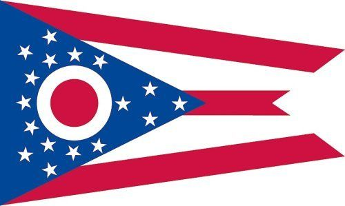 Valley Forge Nylon Ohio State Flag, measures 3-Foot x 5-Foot by Valley Forge. Save 37 Off!. $21.28. 100 % Made in USA. Flag is made of printed nylon, duck heading, and 100% brass grommets. Measures 3 foot by 5 foot. Have Pride in Ohio, hang your state flag from your in-ground pole or house.. Valley Forge Flag designs and constructs fabrics that are durable in the face of the sun, cold, and rain. 3'X5' State Flag manufactured by the leader in flags, Valley Forge Flag.
