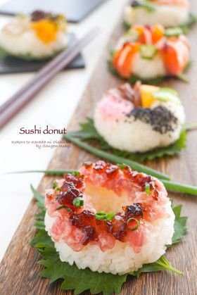デコレーションが楽しい☆寿司ドーナツ