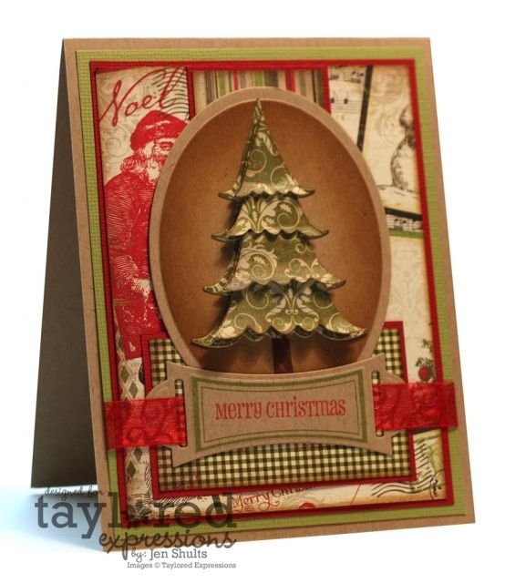 I have a similar tree stamp...like the idea of cutting it and stacking the layers for added dimension
