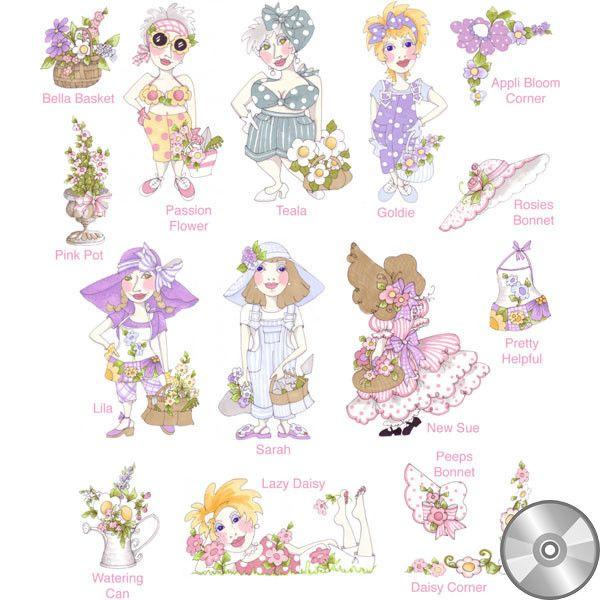 Garden Party 1 Embroidery Design Collection | CD
