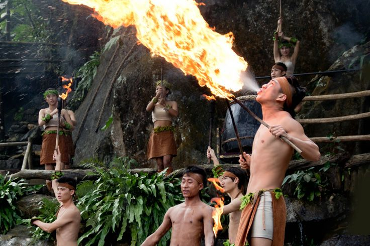"""""""Nestled near the Boating County, is a multi-culture spots that blends recreation and cultural exhibition. Entertainment here never rests. Don't ever miss the exhilarating fire and knife performance. The live show of traditional folk songs and bamboo dance is definitely another highlights for your visit. But if you are an adventurist, do not hesitate to immerse yourself and explore acres of tropical jungle! """" #sanya #whererefreshingbelongs #limiaozu #culture #refreshinglycultural #SanyaRepin"""