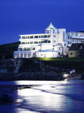 Burgh Island - Devon.  Art Deco hotel where Agatha Christie stayed. Been on the island but NEED to stay there