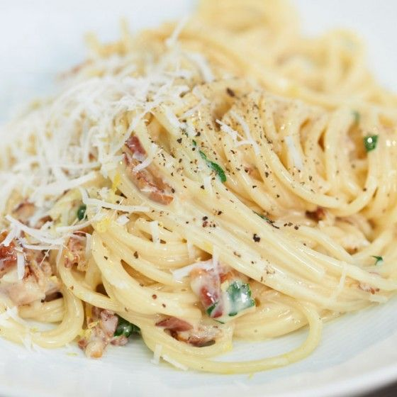 Spaghetti carbonara                                                                                                                                                      Mehr